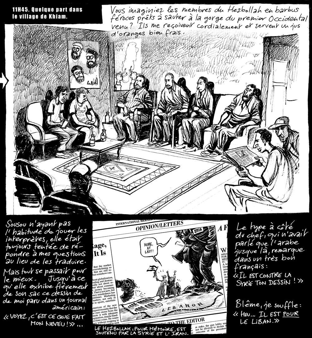 Planche de  Ma tante de Beyrouth , une BD parue dans  Le Temps  en 2000. © Patrick Chappatte
