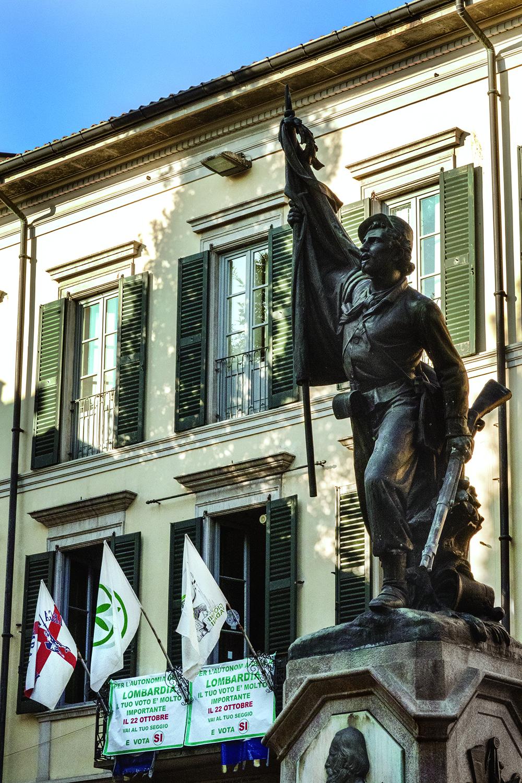 Siège historique de la Ligue du Nord à Varese. © Alberto Campi / Varese / Octobre 2017.