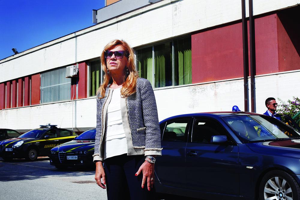 Marisa Manzini, procureure adjointe auprès du tribunal de Cosenza, en Calabre. © Magali Girardin / Septembre 2017