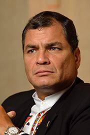 Rafael Correa. © DR