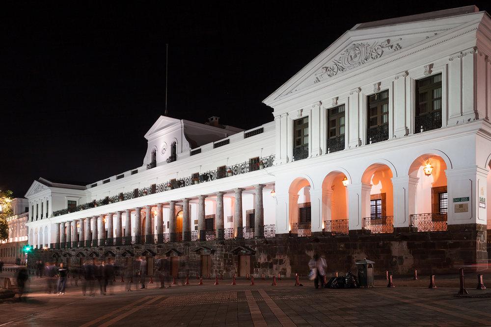Palais présidentiel à Quito. © Charlotte Julie / Archives