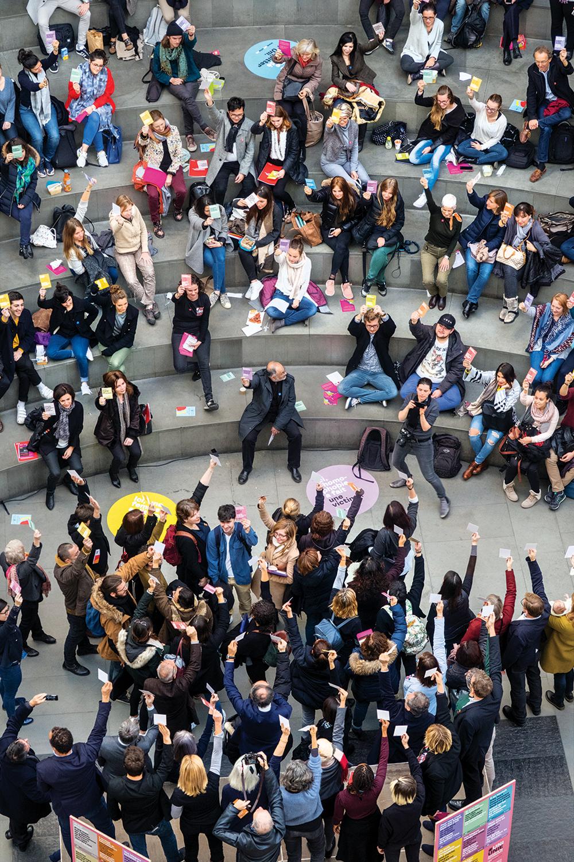 «Flashmob» contre le sexisme à l'Université. © Alberto Campi / Genève, 20 novembre 2017.