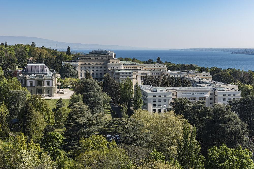 Le Palais des Nations à Genève. © Luca Fascini / Archives