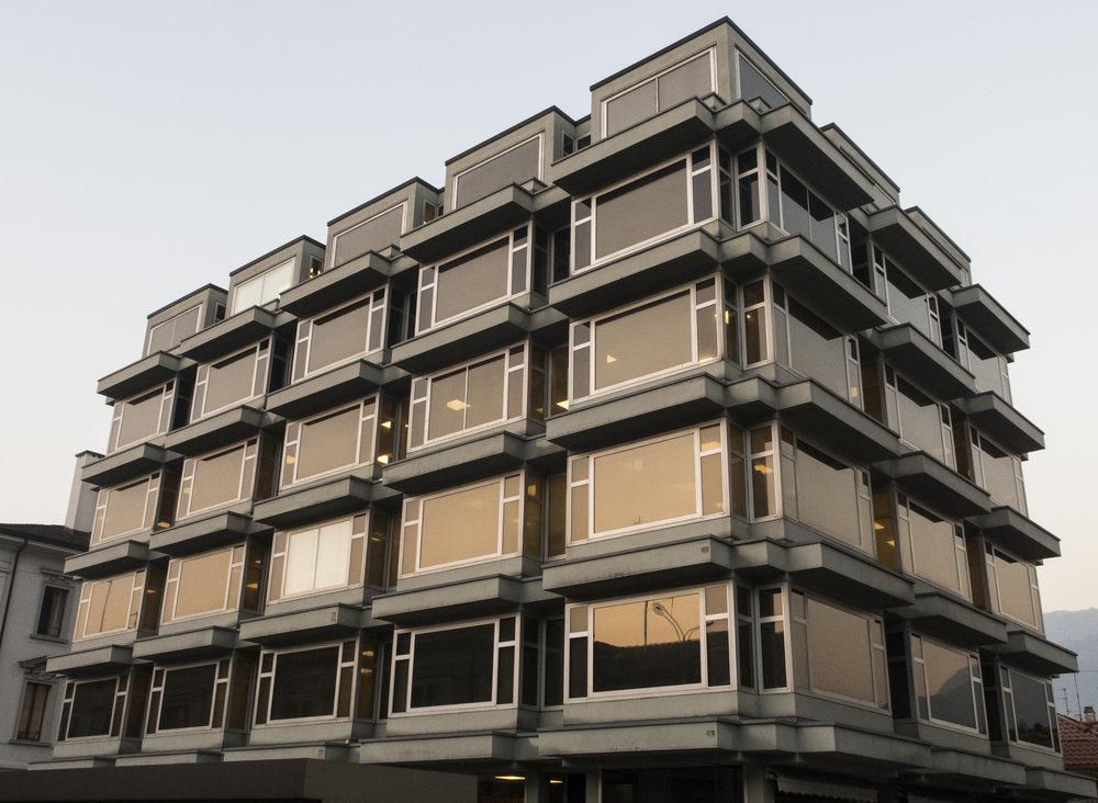 L'immeuble de Chiasso acquis avec l'argent de la drogue. © Alberto Campi / Archives