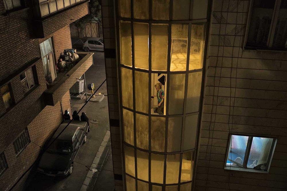 Scènes de la vie quotidienne à Téhéran. © Nicolas Boyer / Agence Hans Lucas / Octobre 2017