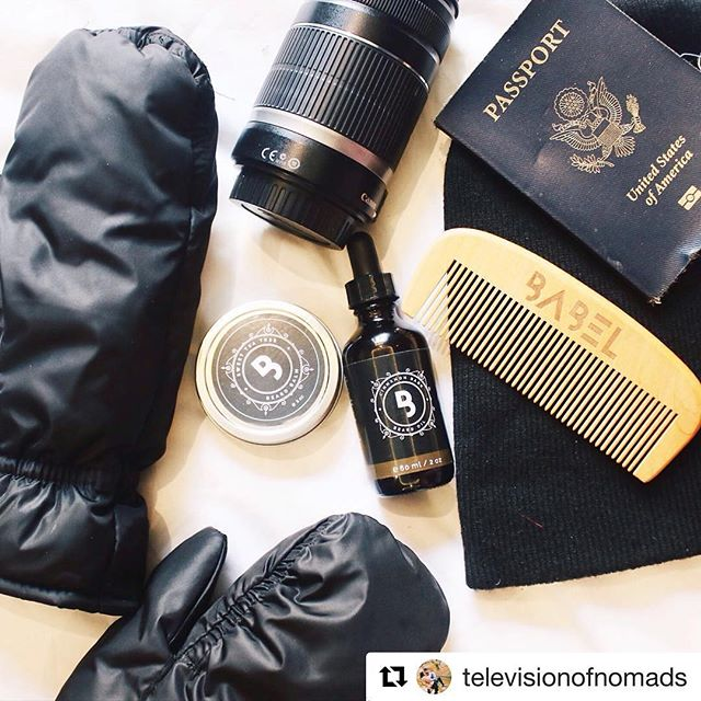 #Repost @televisionofnomads ・・・ Getting ready for our trip to the coldest city in China for the world's largest ice festival, and can't forget Ben's beard oil! @BabelAlchemy's got just the stuff for protecting his beard from the harsh cold weather ❄️💂🏼 #babelalchemy #limitlessgrowth