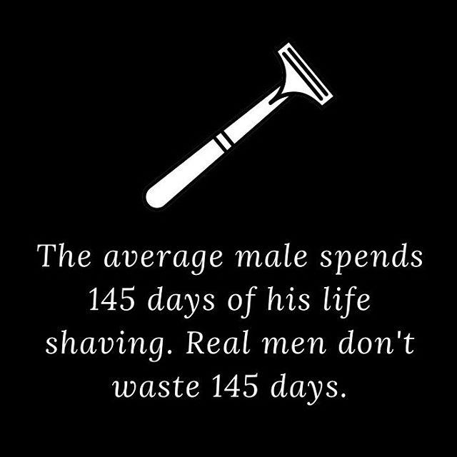 No shave ever 🚫