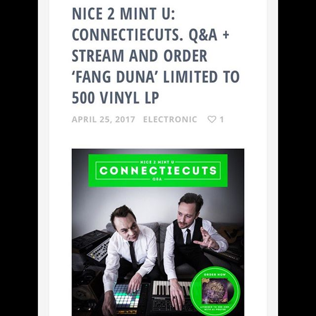 Nice 2 mint u 2 - @mintspaceblog just did a little Q & A with us. Check the great blog if you are into #vinyl #vinylcollector #vinylcollector #vinylporn #lp #records #ltd #limitededition #electronicmusic #idm #modularsynth #eurorack #electro #electronica #connectiecuts #fangduna