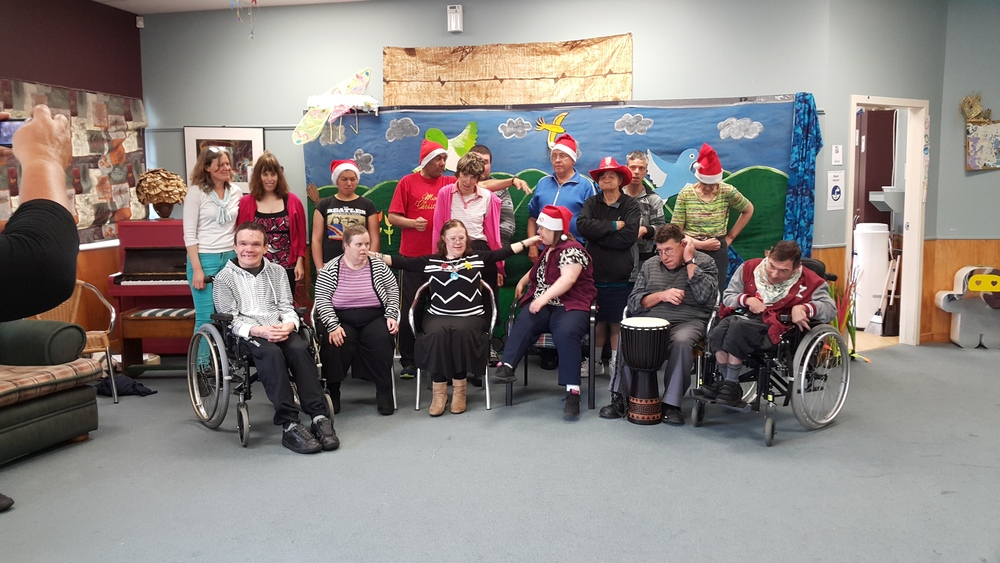 The whole gang at Christmas 2014 big sing