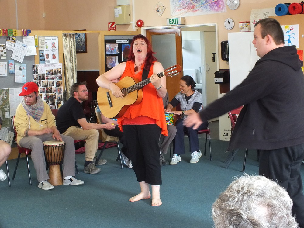 Our final Singing jam with Thumbs up and Hutt Valley Disabled Resources Trust