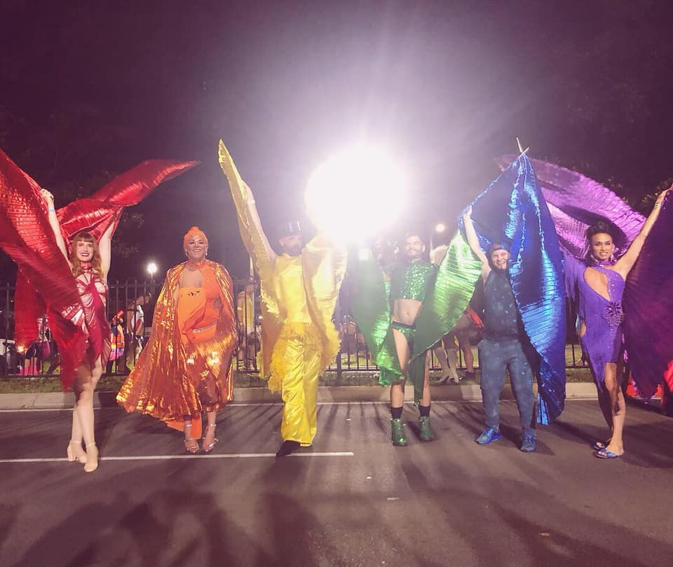 Did you know butterflies are deaf? A rainbow of beautiful butterflies at Mardi Gras 2019 with Deaf Rainbow Australia