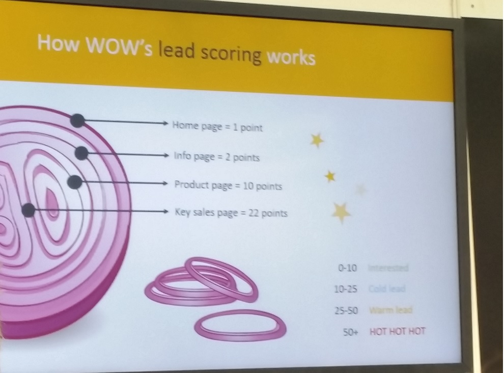 Onion, chilli and visitor identification with Wow analytic - a presentation of many layers.