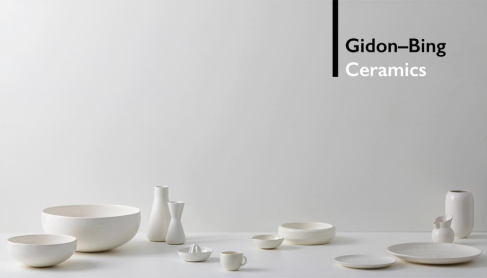 Gidon Bing Ceramics launches new online store: