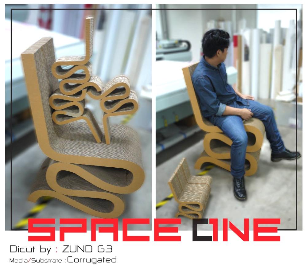 เก้าอี้จากกระดาษลูกฟูก