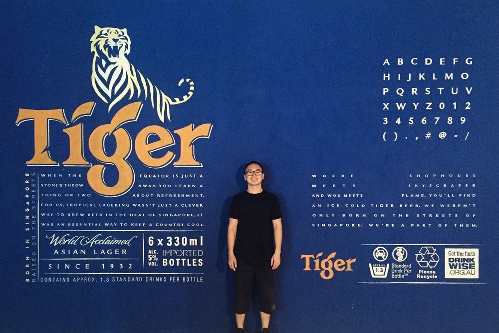 Mural for Tiger Beer