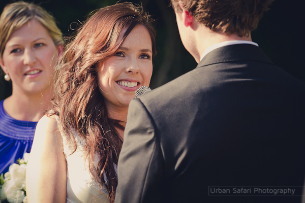 Rachel saying her vows with her eyes on Matt.