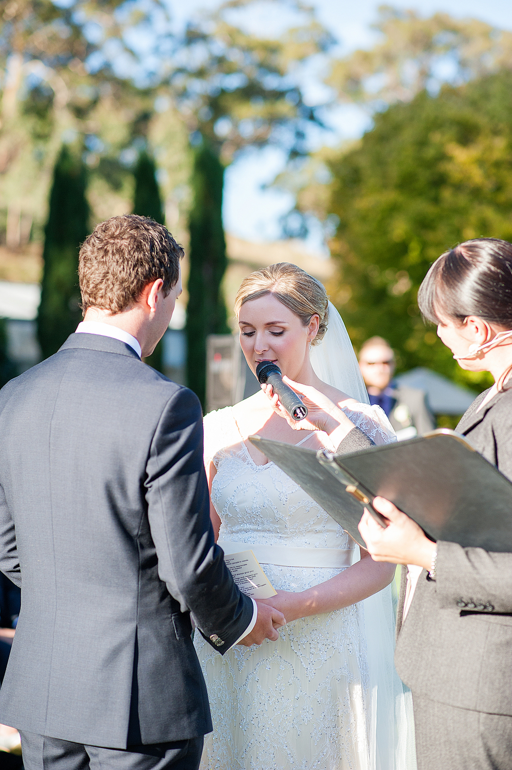 Elyce saying her vows. Photo by Emma Sharkey Photography.