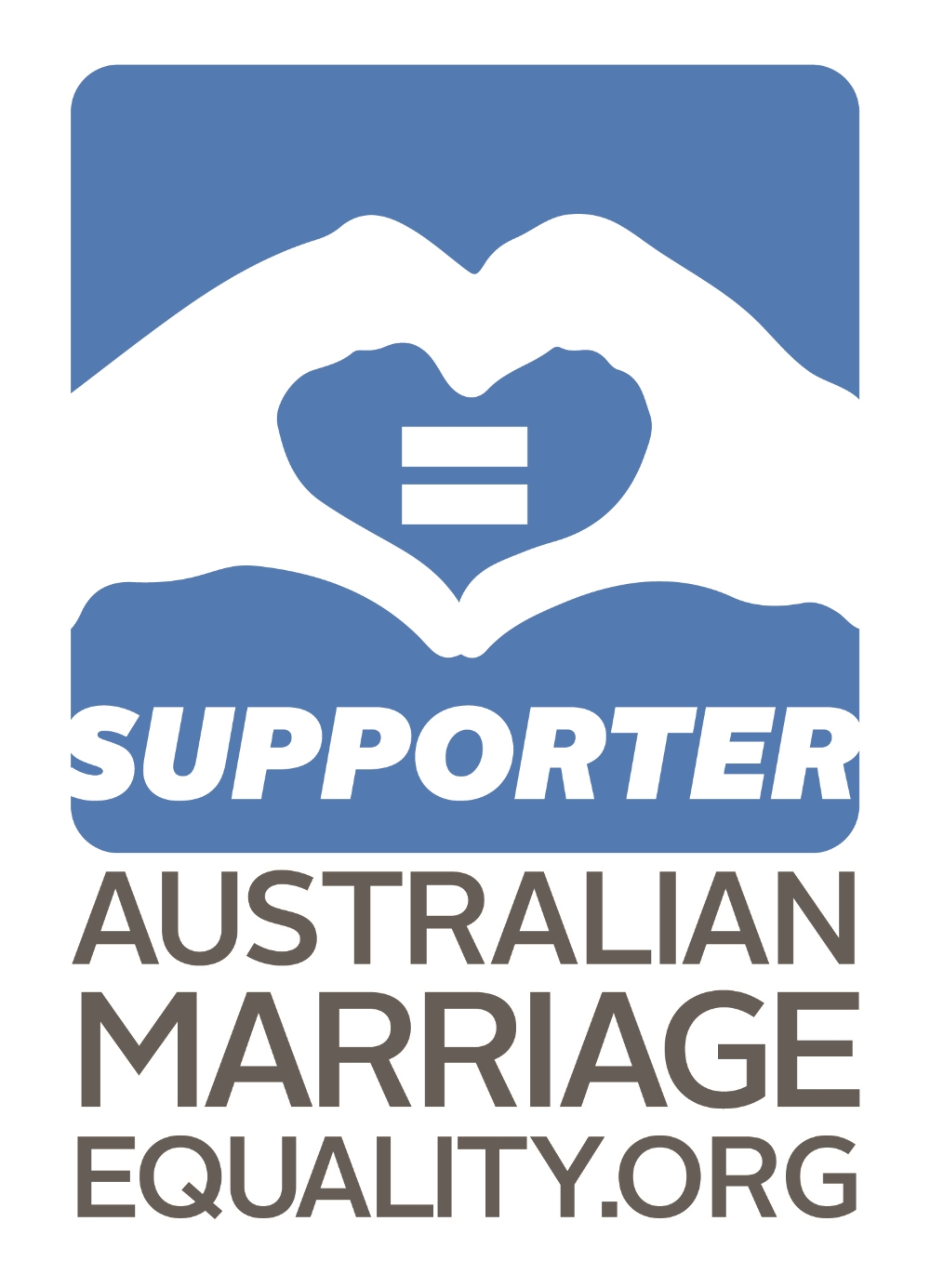 Supporter Australian marriage equality