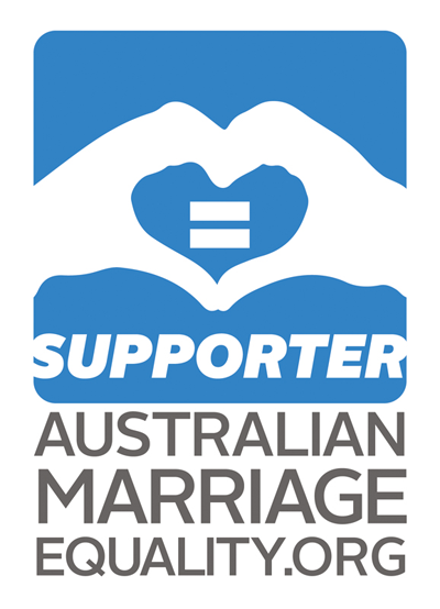 Celebrant supporting marriage equality