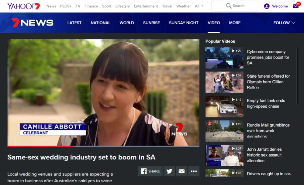 TV Interview with Channel 7 Adelaide