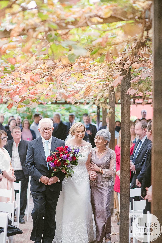 Adelaide hills wedding ceremony