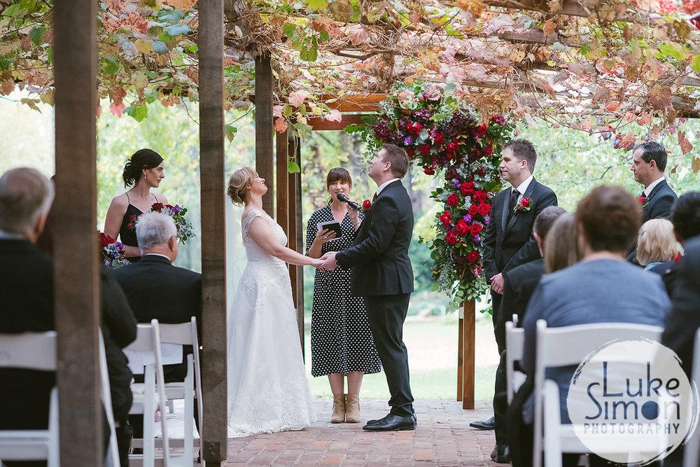 Fun wedding ceremony Adelaide