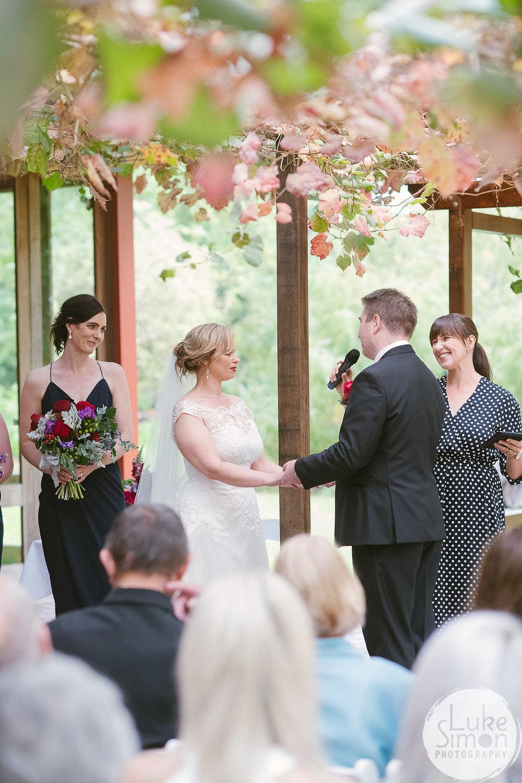 Vows in wedding ceremony
