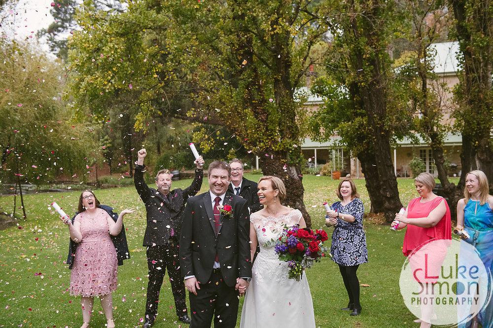 Confetti cannon for wedding