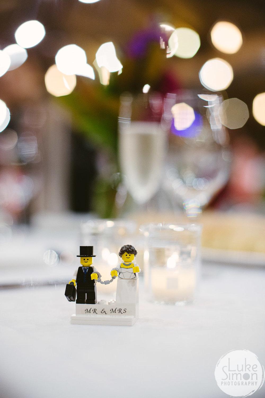 Lego name plate wedding escort cards