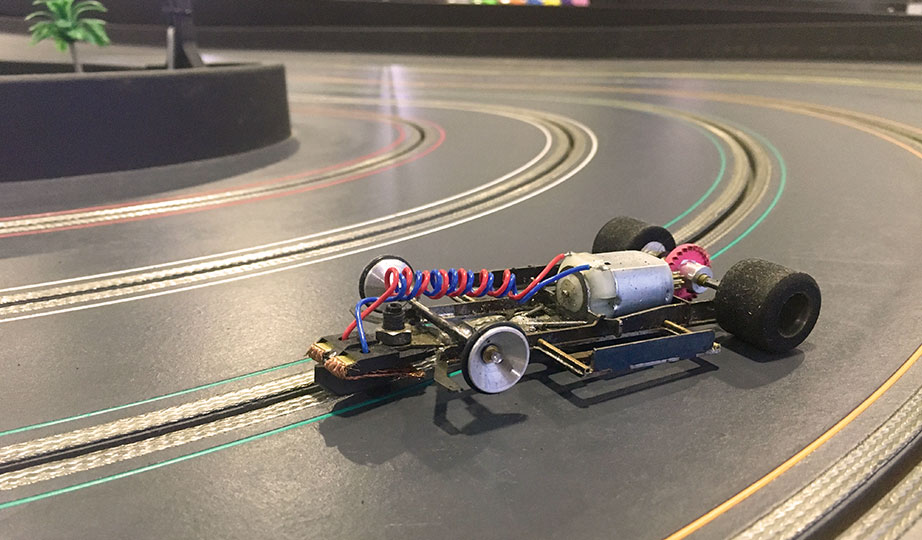 Stripped back slot car