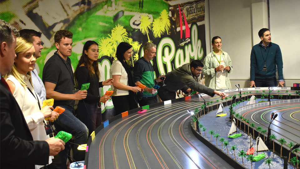 Albert Park inspired race track at Race Party