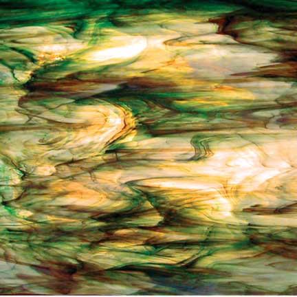 6021-86CC Clear White Green Brown, Rainforest