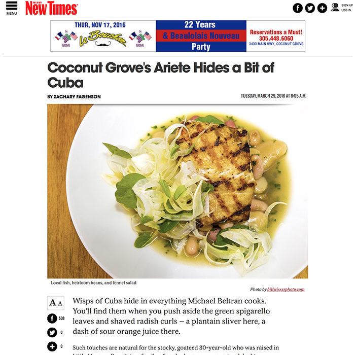 Coconut Grove's Ariete Hides a Bit of Cuba