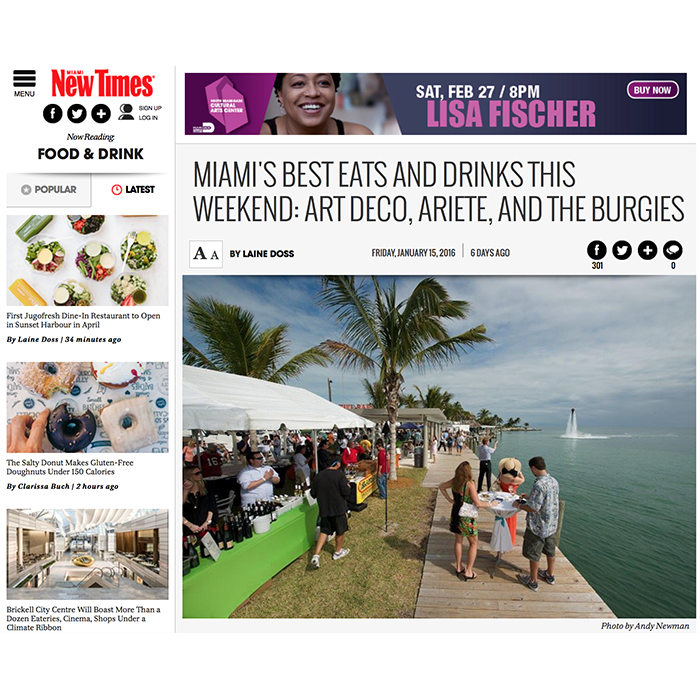Miami New Times: Best Eats and Drinks