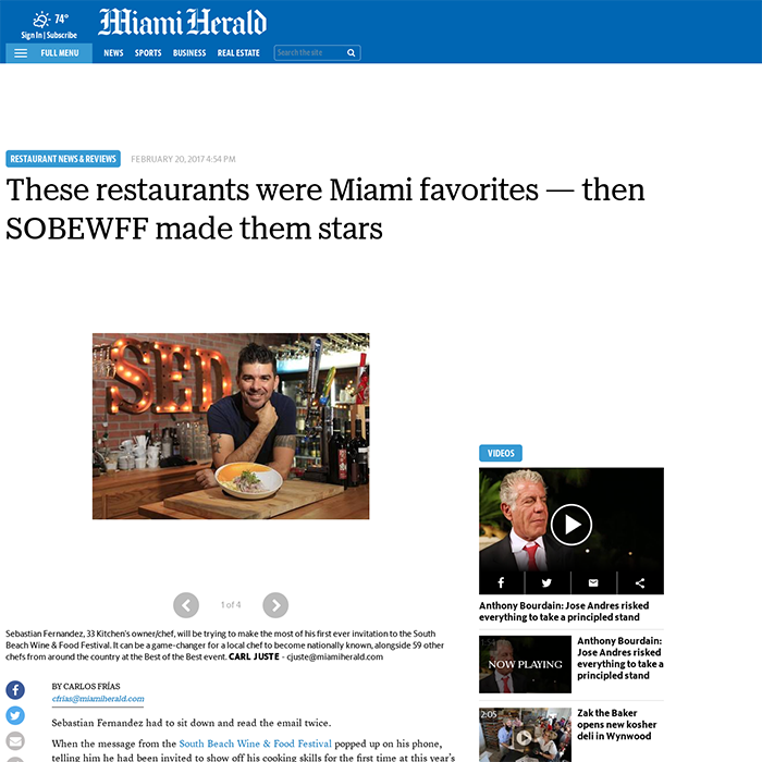 These restaurants were Miami favorites — then SOBEWFF made them stars