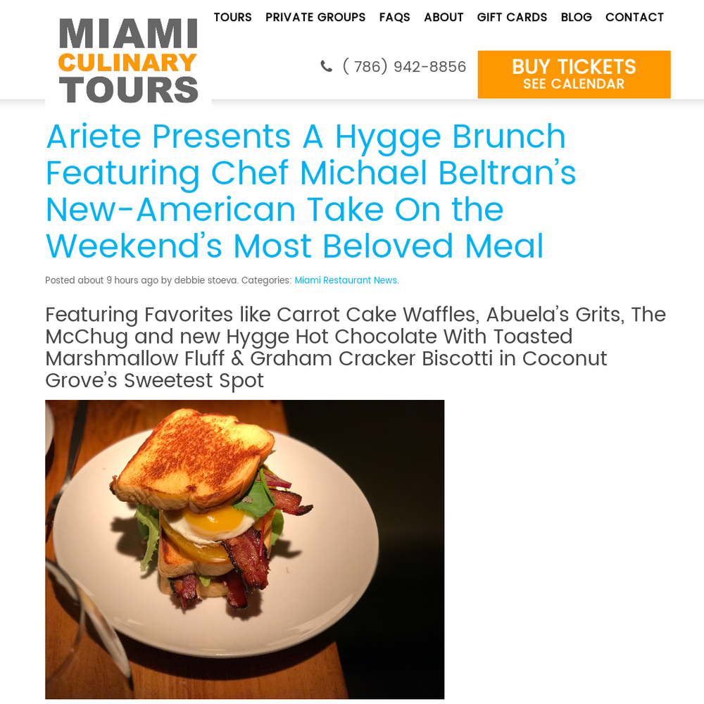 Ariete Presents A Hygge Brunch Featuring Chef Michael Beltran's New-American Take On the Weekend's Most Beloved Meal