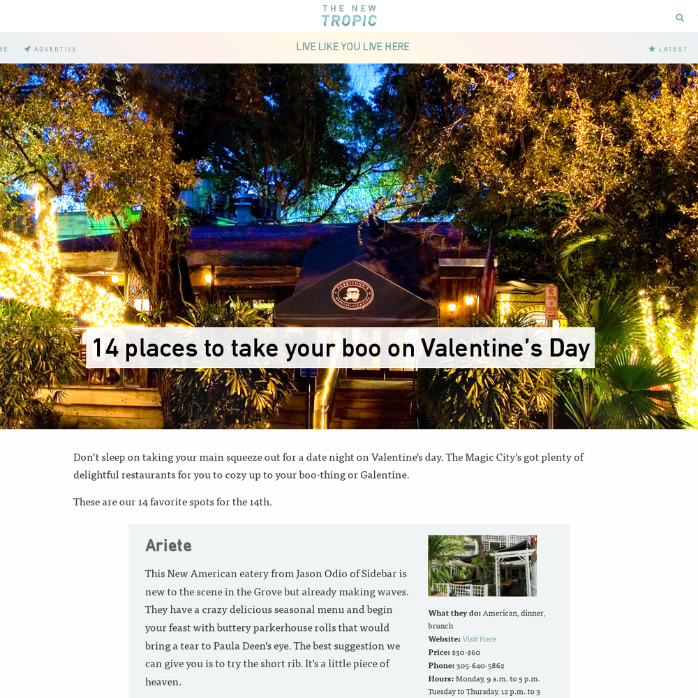 14 places to take your boo on Valentine's Day