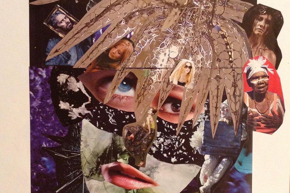 'Thinking' - Collage, JC Kirker (2011)