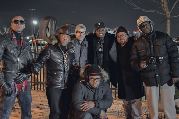 "Following Boston Producer, Michael Kalish, makes a cameo in the Bell Biv Devoe music video ""I'm Betta"". Here he is on set with Oscar Alvarez and Knewlife Media in East Boston."