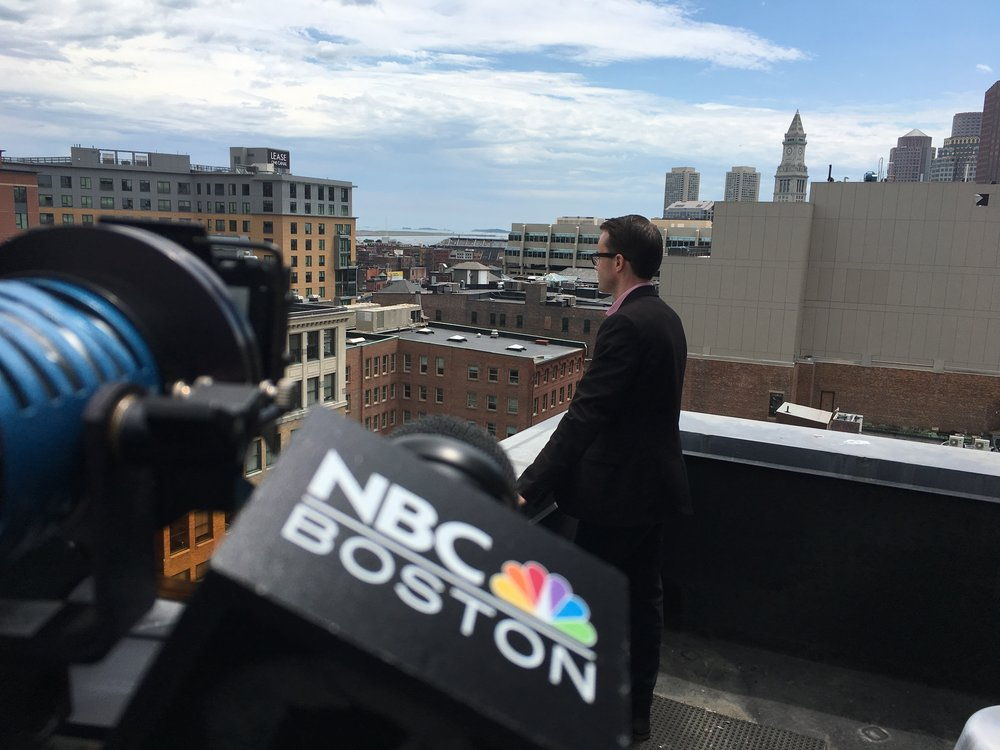 July 2017 - Watch the NBC Boston // Following Boston Interview
