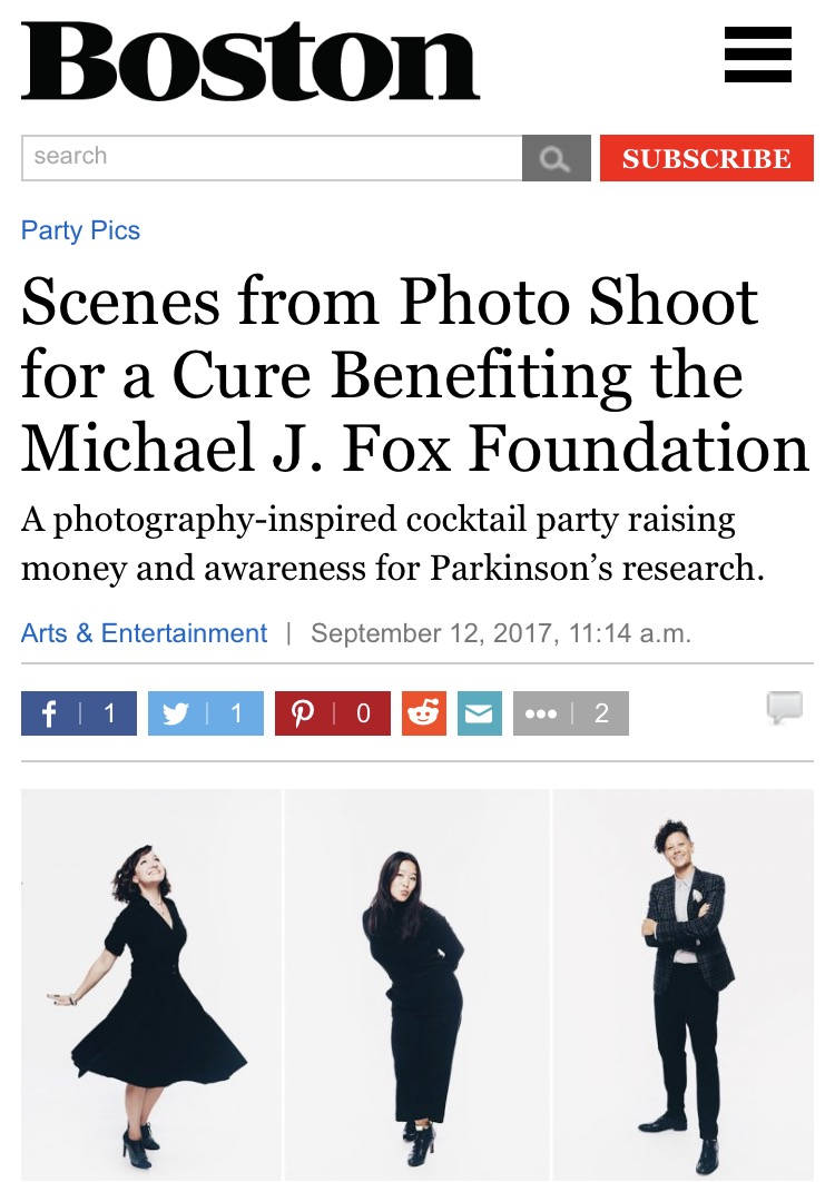 September 2017 - Following Boston was proud to play a small role in helping Photo Shoot For A Cure raise over 30k for Team Fox and The Michael J. Fox Foundation.  Check out the Boston Magazine feature on the event