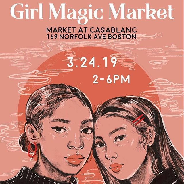 TODAY    @girlmagicmeets _______________________________________ SUNDAY: We're hosting our first ever Girl Magic Market at @market.casablanc featuring many of our members working across fashion, art, writing, and crafts for a day of shopping and shooting. Support local and small businesses while catching a vibe with beats provided by @babyelsss. Photo stations and open studio brought to you by @winkstudiosma with an installation by @petals.onpetals, @princephotobooth, @sergiadupoux and @allyschmaling.  Event is free and open to all ages but we're accepting donations to help fund events like this in the future. Grateful for our sponsors @snowdaes @brewdawakeningcoffeehaus @1981ramenbar @boydandco_ for helping us make this happen.  _______________________________________ See you magical creatures there! #shopsmall #shoplocal #boston #followingboston