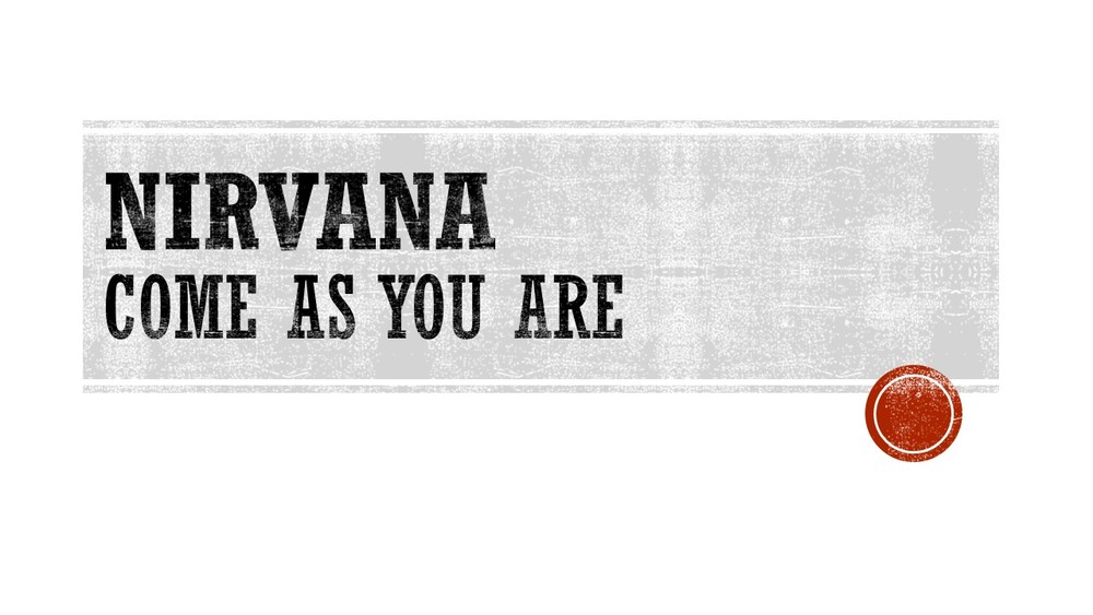 Nirvana Come as you are .jpg