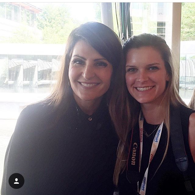 Our very own Day Davis with the sweetest Nia Vardalos. If you need inspiration, hear her speak, she's fabulous!
