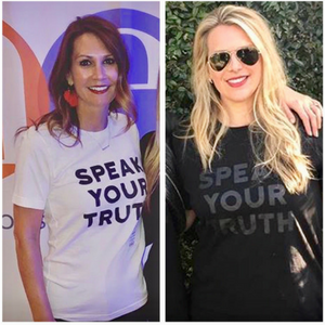 Speak Your Truth T-shirts - purchase your own at  www.shopthegoldbubble.com !