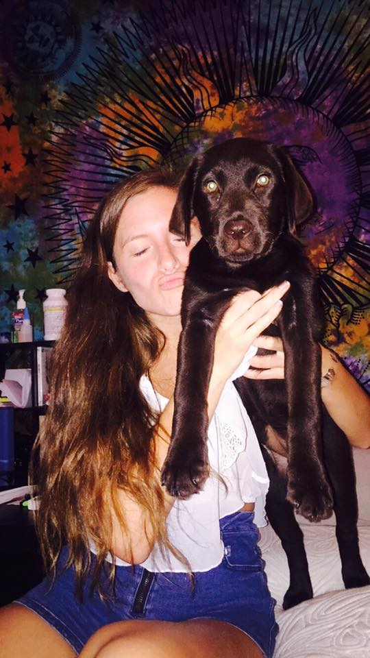 Meredith Berger and her puppy, Callie.