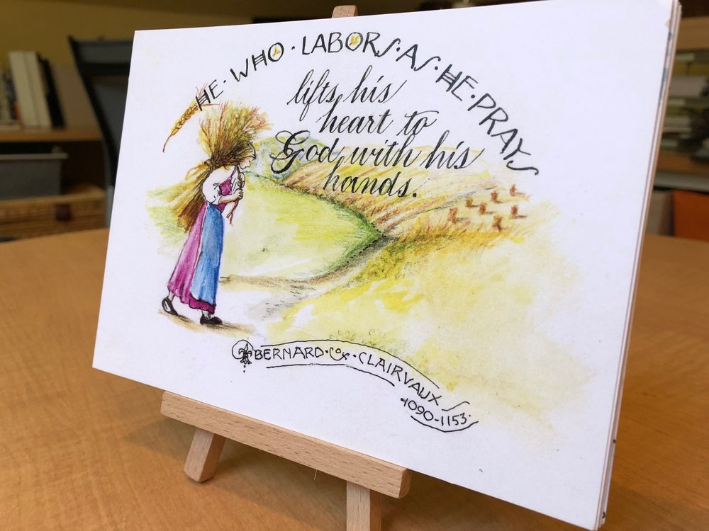 14 5x7 cards feature the quotes by Vintage Sinner-Saints + a display easel