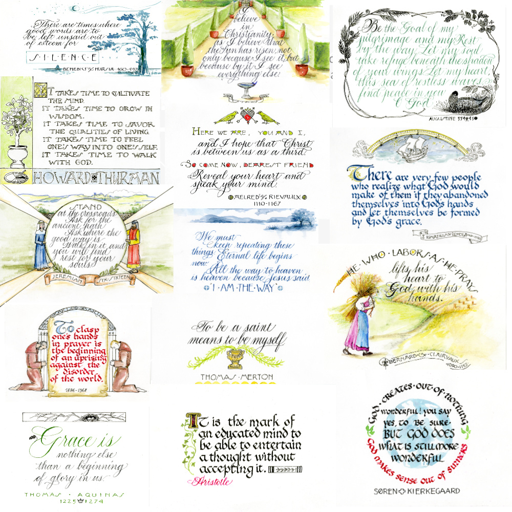 to order Calligraphy Quote Cards, email beth@theologicalhorizons.org