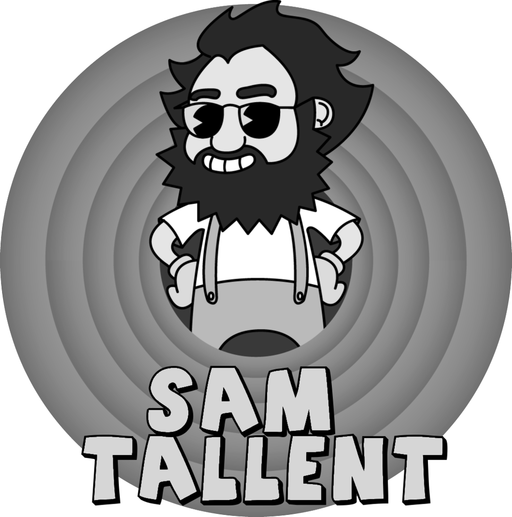 """Known for whip-quick wit and rollicking improvisations, Sam Tallent is one of the sharpest, most original rising talents in comedy today. He has been called """"the absurd voice of a surreal generation"""" by the Denver Post, and, when not maintaining a """"Black Flag esque tour schedule"""" (Savage Henry Magazine), Sam has worked alongside many of the biggest names in comedy, including Louis CK, Dave Chappelle, Doug Stanhope, Dana Carvey, Hannibal Buress and TJ Miller. Sam has performed at the Oddball Comedy Festival, High Plains Comedy Festival, Hell Yes Fest, the Chicago Comedy Expo and the NY Film and Television Festival. Sam regularly headlines his hometown club, the legendary Denver Comedy Works. He recently won his battle on Comedy Central's Roast Battle, and was seen on VICELAND's Flophouse as well as the Chris Gethard Show. His writing has been published on VICE.com. He lives in Las Vegas with his wife and his dog."""