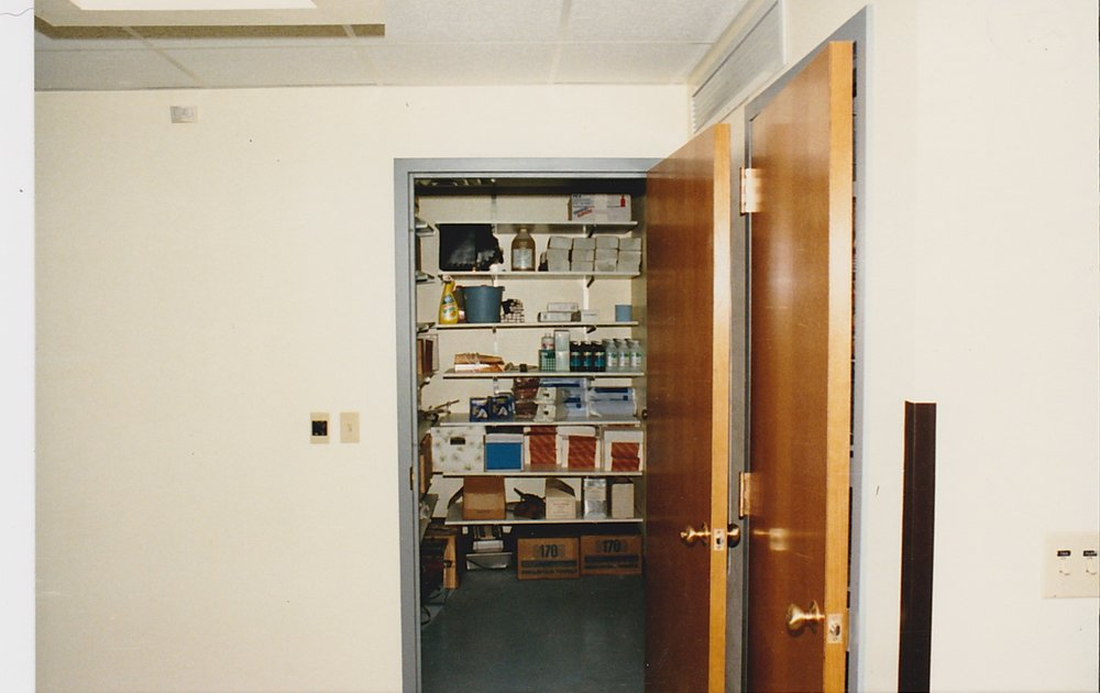 Pharmacy and equipment storage room